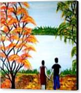 Romance In Autumn Canvas Print