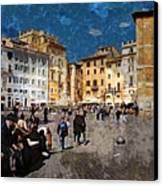 Rome - Piazza Della Rotunda Canvas Print by Jen White