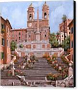 Rome-piazza Di Spagna Canvas Print