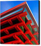 Roof Corner - Expo China Pavilion Shanghai Canvas Print by Christine Till