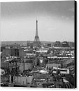 Roof Of Paris. France Canvas Print by Bernard Jaubert