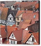 Roofs Of Bad Sooden-allendorf Canvas Print by Heiko Koehrer-Wagner