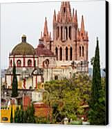 Rooftop View Of La Parroquia De San Miguel Arcangel Canvas Print by Rob Huntley