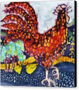 Rooster In The Morning Canvas Print by Carol  Law Conklin