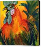 Rooster Of Another Color Canvas Print