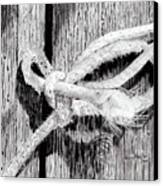 Rope On A Fence Canvas Print