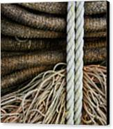 Ropes And Fishing Nets Canvas Print by Carol Leigh