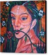 Rosales Latina Canvas Print