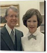 Rosalynn Carter And Jimmy Carter Canvas Print by Everett