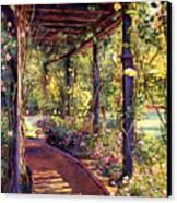 Rose Arbor Toluca Lake Canvas Print by David Lloyd Glover