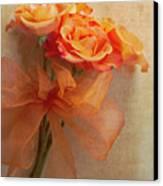 Rose Bouquet Canvas Print by Rebecca Cozart