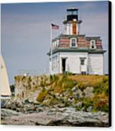 Rose Island Light Canvas Print by Susan Cole Kelly