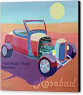 Rosebud Model T Roadster Canvas Print by Evie Cook