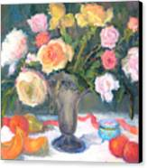 Roses And Fruit Canvas Print