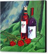 Roses And Wine Canvas Print