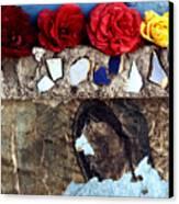 Roses On A Shrine Canvas Print