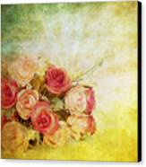 Roses Pattern Retro Design Canvas Print
