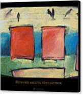 Rothko Meets Hitchcock - Poster Canvas Print