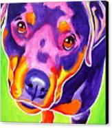 Rottweiler - Summer Puppy Love Canvas Print