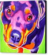 Rottweiler - Summer Puppy Love Canvas Print by Alicia VanNoy Call