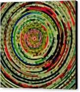Round Newspaper Canvas Print by Teodoro De La Santa