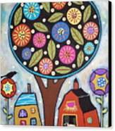 Round Tree Canvas Print by Karla Gerard
