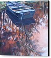 Rowboat Ashore Canvas Print
