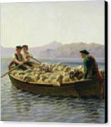Rowing Boat Canvas Print by Rosa Bonheur