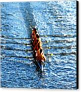 Rowing In Canvas Print by David Lee Thompson