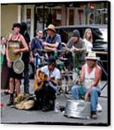Royal Street Musicians Canvas Print by Linda Kish