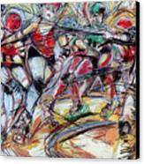 Rubber City Roller Girls Canvas Print