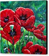 Rubies In The Emerald Forest Canvas Print
