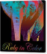 Ruby In Color Canvas Print