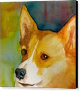 Ruby The Corgi Canvas Print by Cheryl Dodd