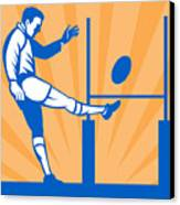 Rugby Goal Kick Canvas Print