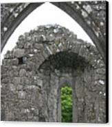 Ruins Of A 9th Century Monastery In Ireland Canvas Print