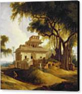 Ruins Of The Naurattan Canvas Print by Thomas Daniell