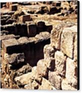 Ruins Of Zippori Canvas Print by Thomas R Fletcher