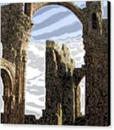 Ruins On The Holy Island Canvas Print