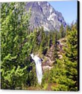 Running Eagle Falls Glacier National Park Canvas Print