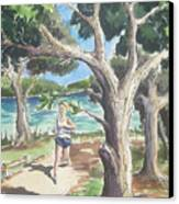Running White Rock Canvas Print