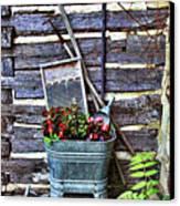 Rural American Graden Scene Canvas Print by Linda Phelps