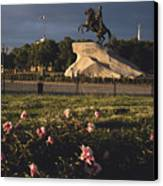 Russia, St. Petersburg, The Bronze Canvas Print by Keenpress