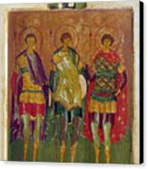 Russian Icon: Saints Canvas Print by Granger
