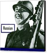Russian - This Man Is Your Friend Canvas Print by War Is Hell Store