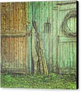 Rustic Barn Doors With Grunge Texture Canvas Print
