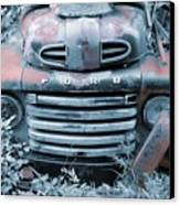 Rusty Blue Ford Canvas Print