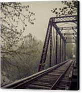 Rusty Bridge Canvas Print by William Schmid