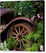 Rusty Truck In The Garden Canvas Print