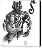 Ryan With Werewolf Canvas Print
